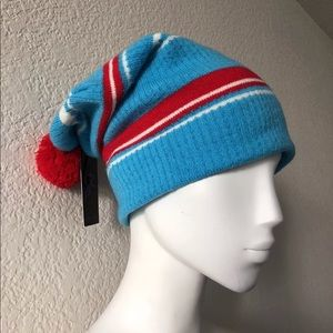 f3deae18130 Young   Reckless Accessories - Young and reckless beanie striped with red pom  pom